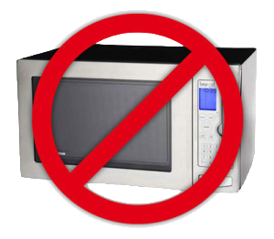 Microwave oven with no mark
