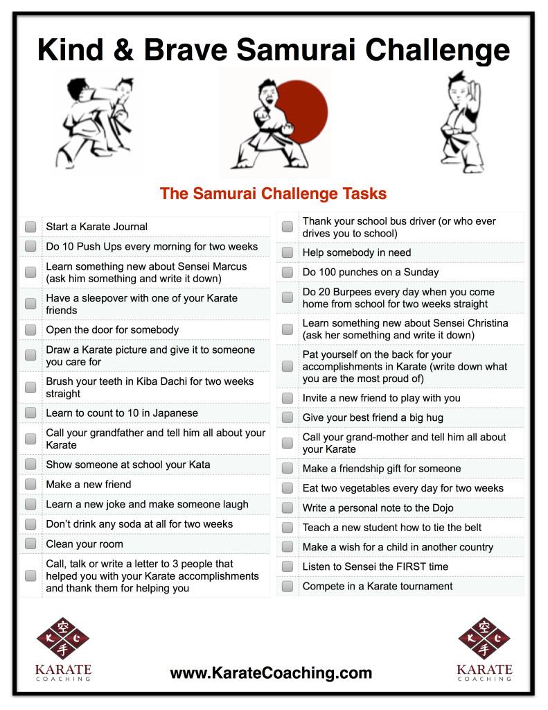 Kind & Brave Samurai Challenge