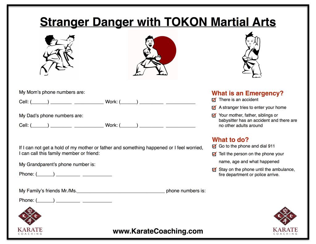 Stranger Danger Emergency Phone number for Kids